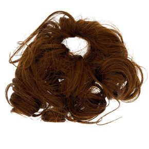 Curly Faux Hair Tie - Brown,