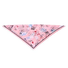 Love Paris Fashion Neck Scarf - Pink,