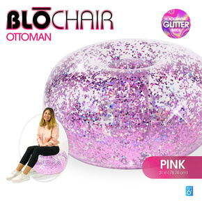BloChair Glitter Inflatable Ottoman - Pink,