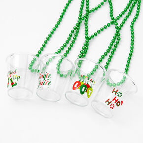 Holiday Beaded Necklace Shot Glasses - 4 Pack,