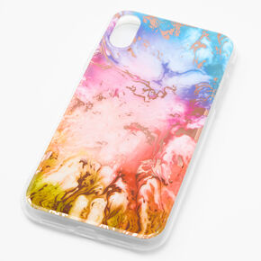 Gold Rainbow Marble Phone Case - Fits iPhone XR,