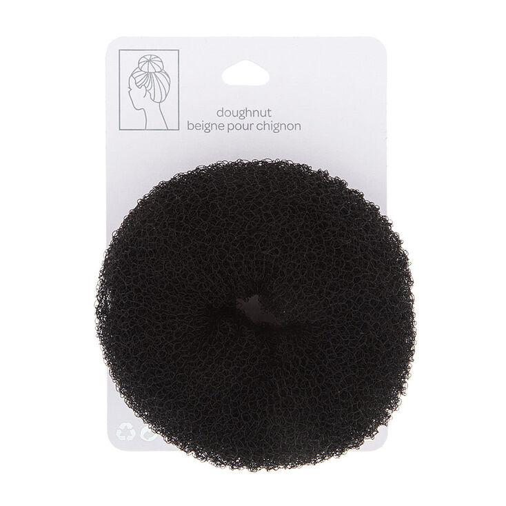 Large Dark Brunette Hair Doughnut,