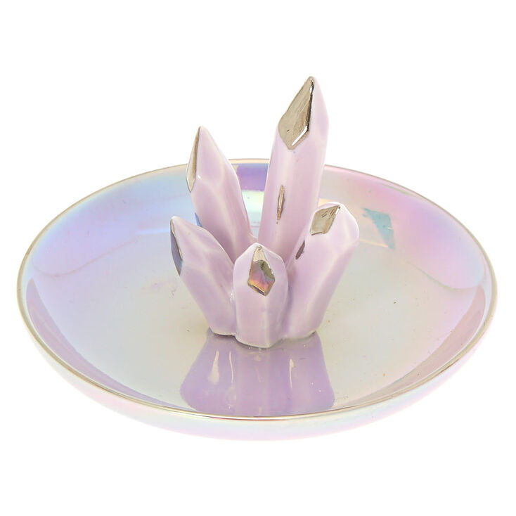 Ceramic Amethyst Jewelry Holder Tray - Purple,