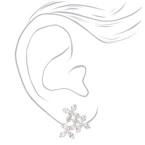 Cubic Zirconia Flower Trio Stud Earrings,