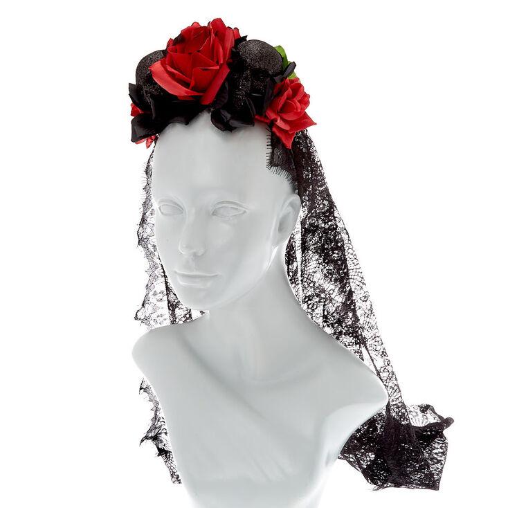 Day of the Dead Veil Headband,