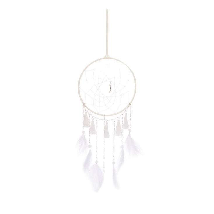 Moon Tassel Dreamcatcher - White,