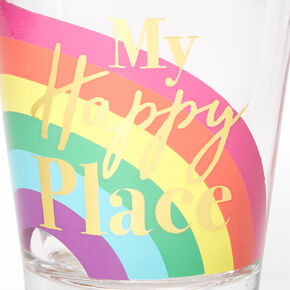 Rainbow Love My Happy Place Shot Glass,
