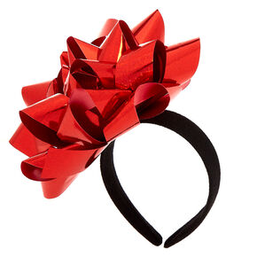 Christmas Bow Headband - Red,