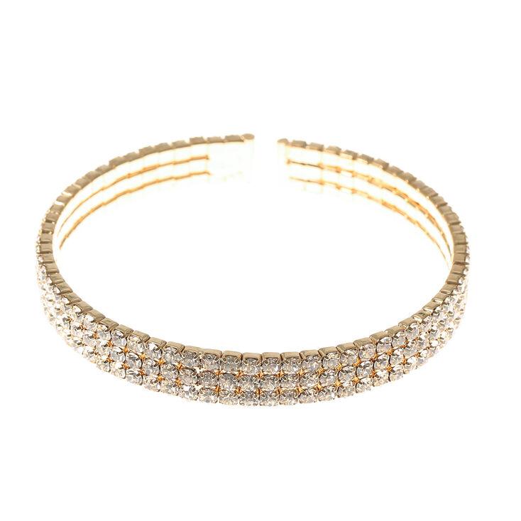Gold Crystal Cuff Bracelet,