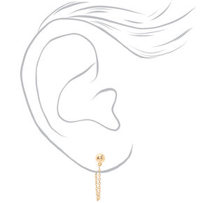 Gold Ball Pearl Ear Cuff & Mixed Earrings - 6 Pack,