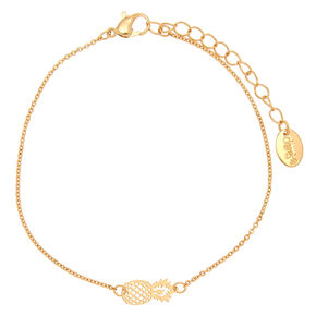 Gold Tropical Pineapple Anklet,