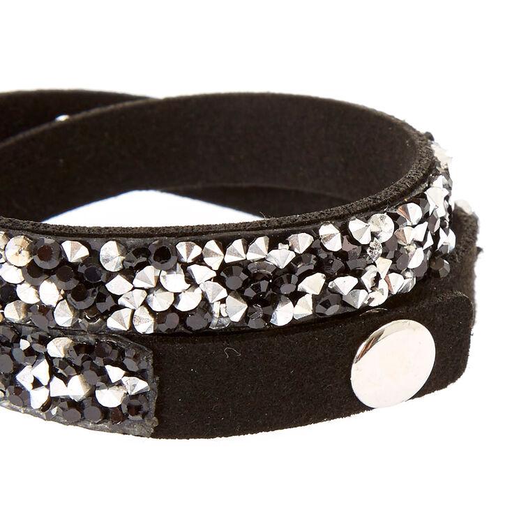 Black Gem Wrap Bracelet,