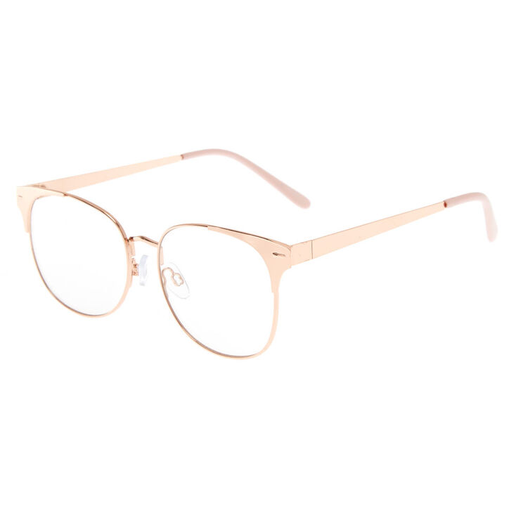 Rose Gold-Tone Retro Frames,