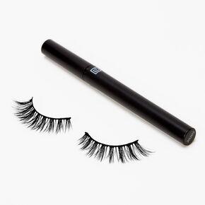 Eylure Line & Lash Faux Mink Wispy False Lashes - Black Liner,