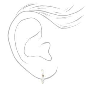 Mixed Metal Floral Love Stud & Hoop Earrings - 20 Pack,