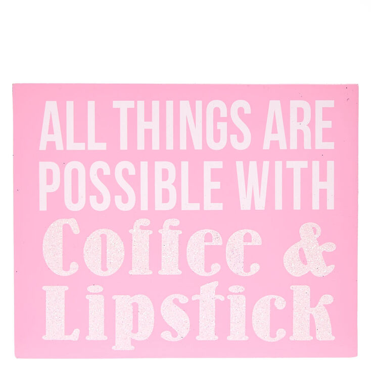 Coffee & Lipstick Desk Block Artwork,