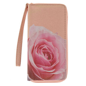 Metallic Rose Wristlet - Rose Gold,