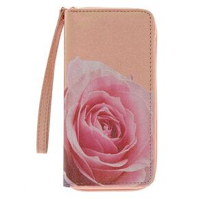 Metallic Rose Wristlet - Rose Gold,