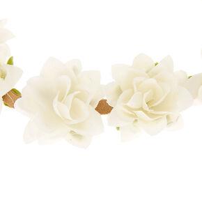 Festival Flower Crown Headwrap - White,