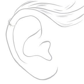 Sterling Silver 20G Triple Embellished Cartilage Hoop Earring,
