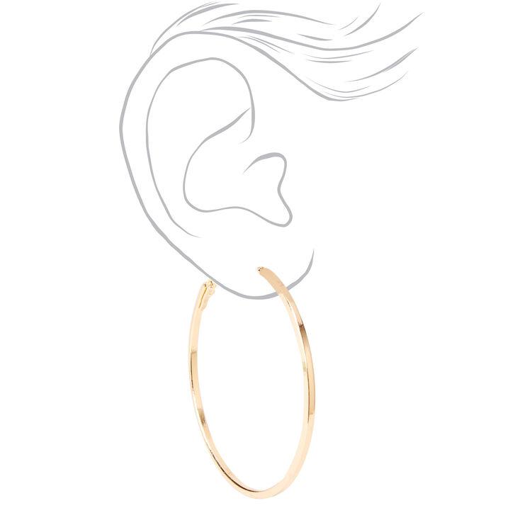 Gold Hoop Earrings - 25MM, 35MM, 45MM,