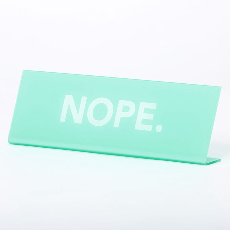 NOPE Nameplate - Mint,