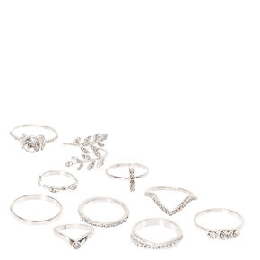 10 Pack Romantic Rings,