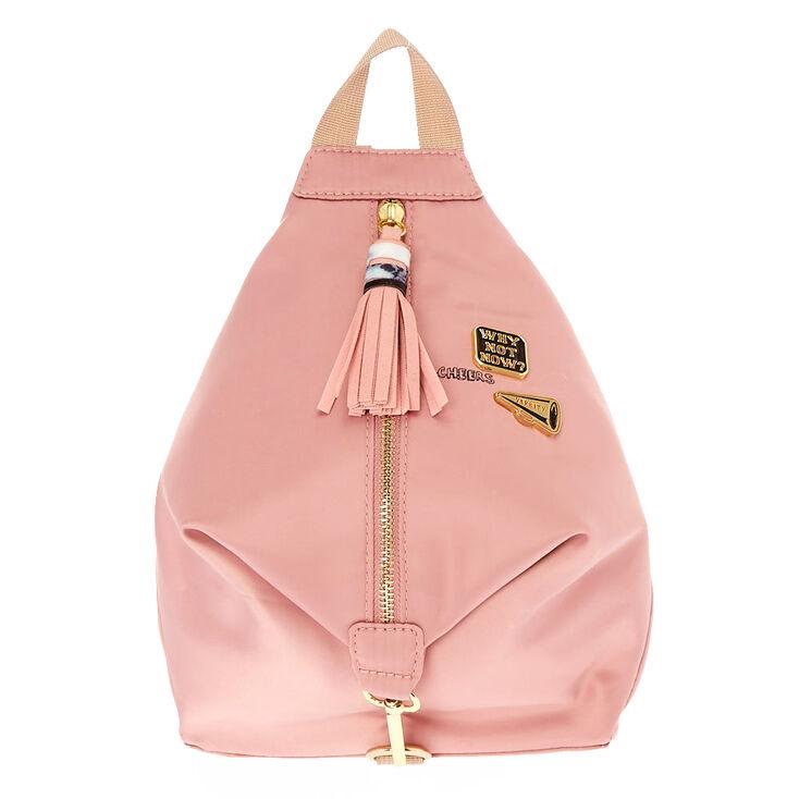 Mini Satin Blush Pink Backpack,