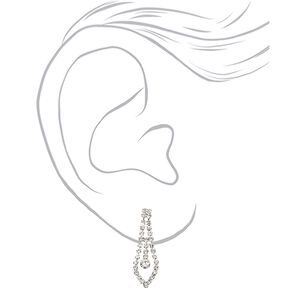 Silver Rhinestone Woven Twist Jewelry Set - 2 Pack,