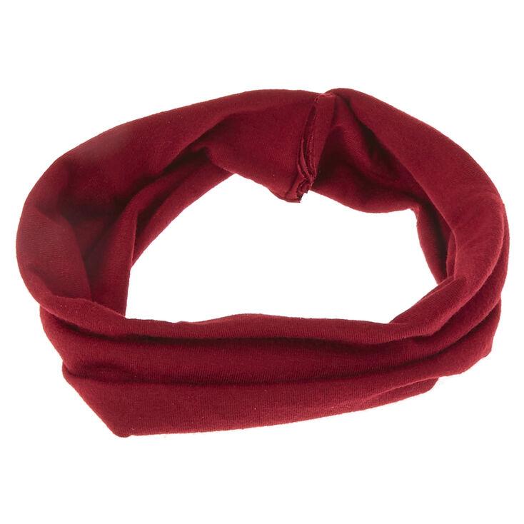 Twisted Wide Jersey Headwrap - Burgundy,