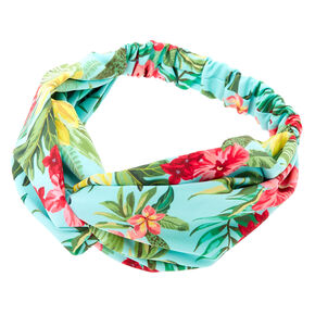 Hibiscus Flower Headwrap - Mint,