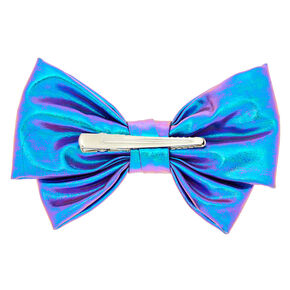 Metallic Mermaid Hair Bow Clip - Lilac,