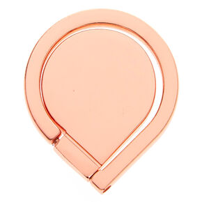 Rose Gold Tear-Shaped Ring Stand,