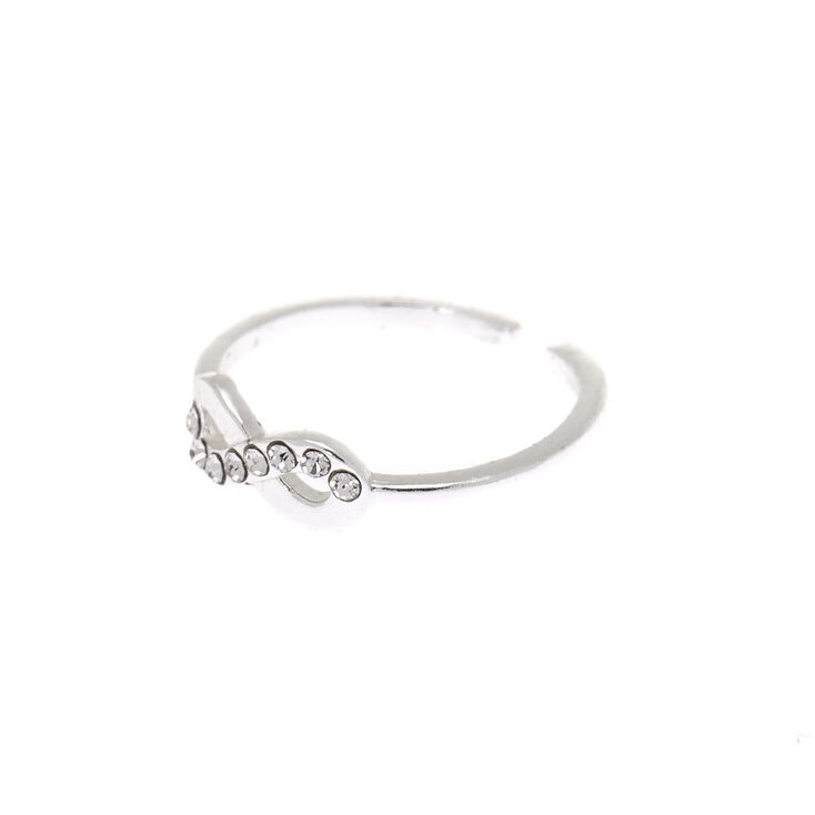 Sterling Silver Infinity Toe Ring,