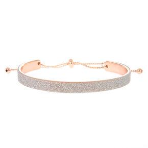 Glitter Cuff Bracelet - Silver,