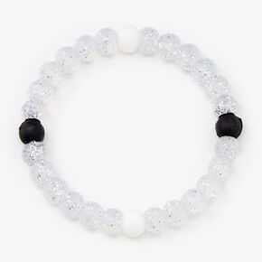 Gliter Fortune Stretch Bracelet - Clear,