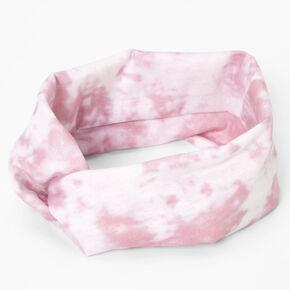 Tie Dye Headwrap - Mauve,