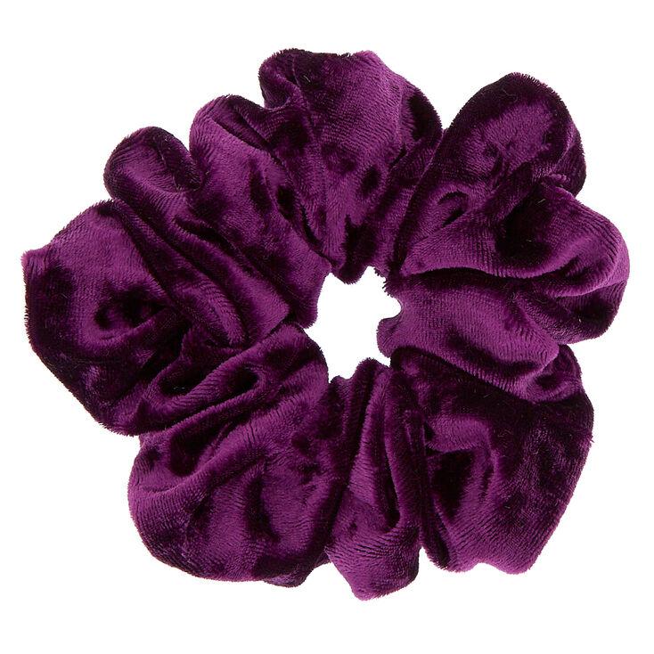 Velvet Hair Scrunchie - Purple,