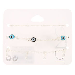 Evil Eye Chain Bracelets - 3 Pack,