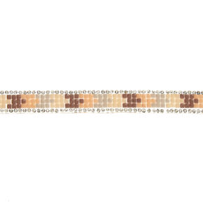 Blush Gem Encrusted Choker,