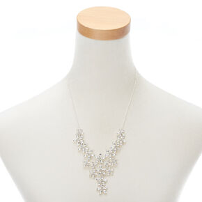 Silver Rhinestone Petal Jewelry Set - 2 Pack,
