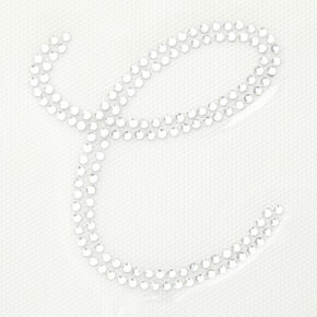 Rhinestone Iron-On Initial - C,