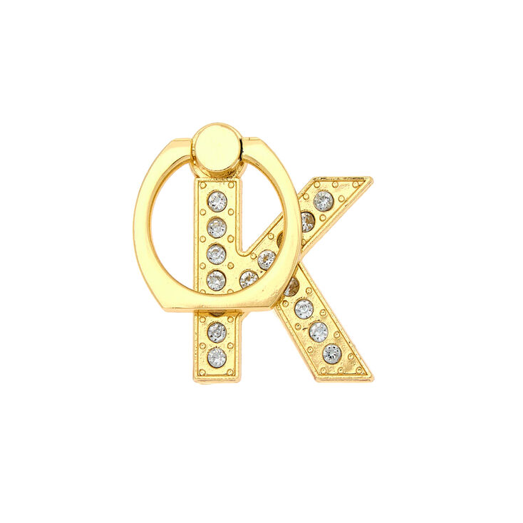 Gold Initial Ring Stand - K,