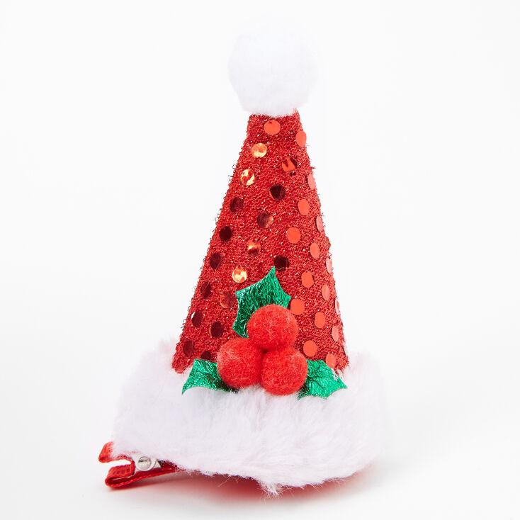 Sequin Santa Hat Hair Clip,