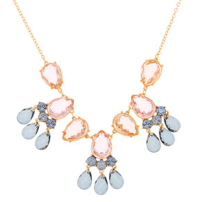 Pastel Shine Teardrop Statement Necklace,