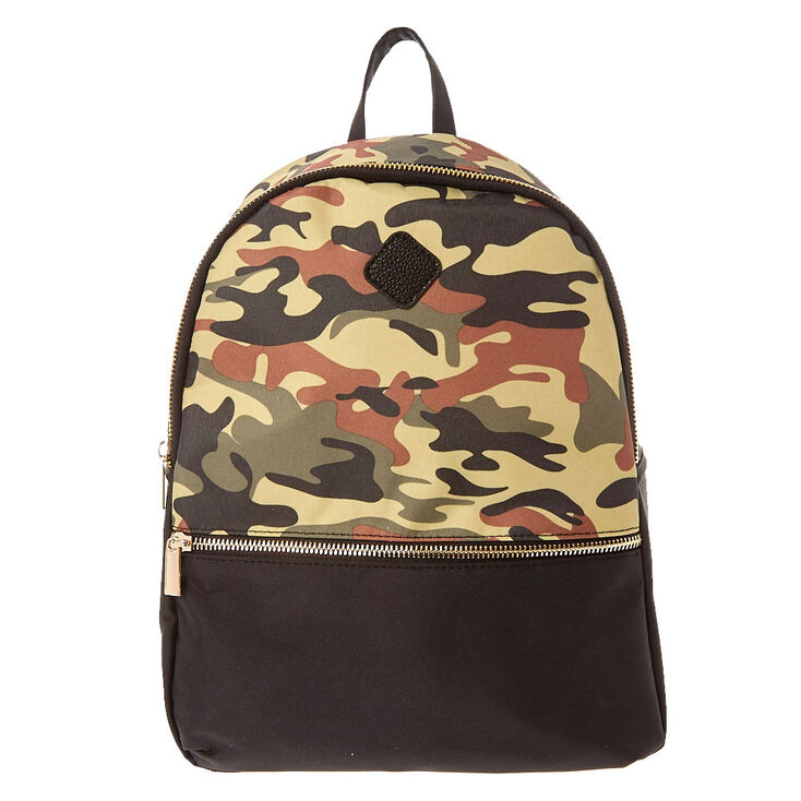 Green Camo Backpack,
