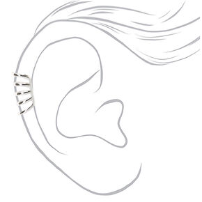Silver Five Row Ear Cuff,