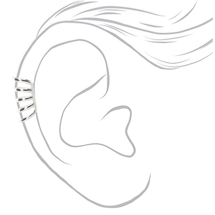 Silver Five Row Ear Cuff,