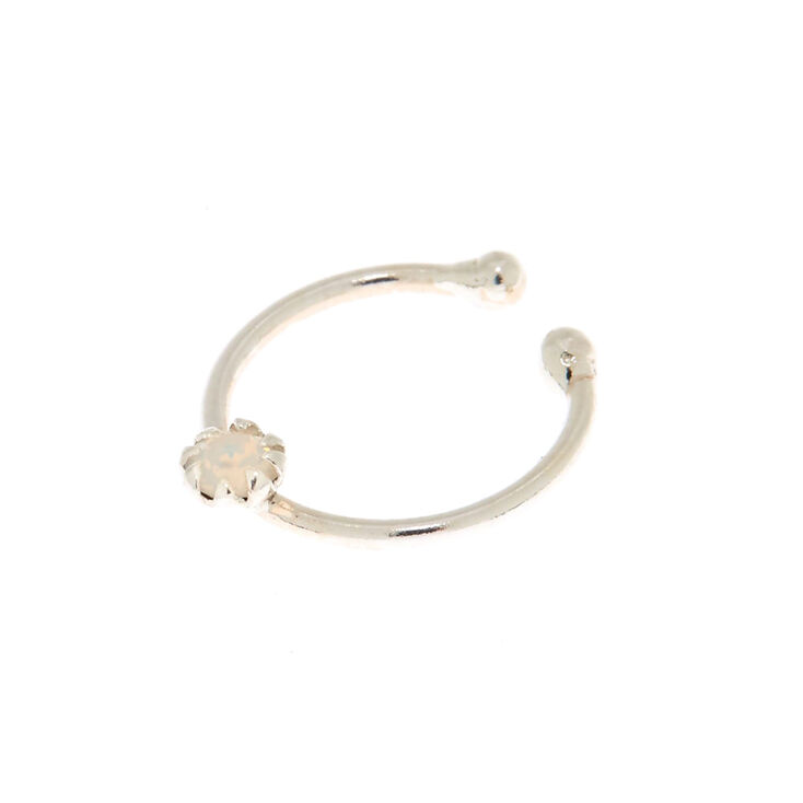 Sterling Silver Swarovski® Elements Faux Nose Ring,