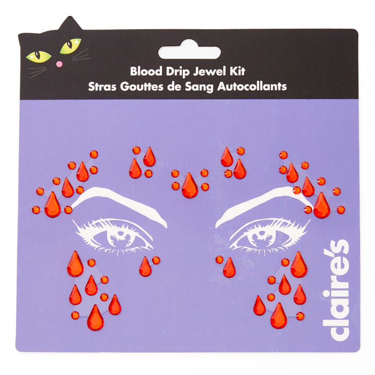 Blood Drip Face Gems - Red,